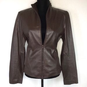 Vintage Express 100% Leather Moto Jacket Size 9/10